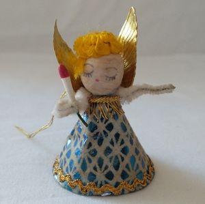 Vtg Japan Paper Angel Ornament Figure Christmas